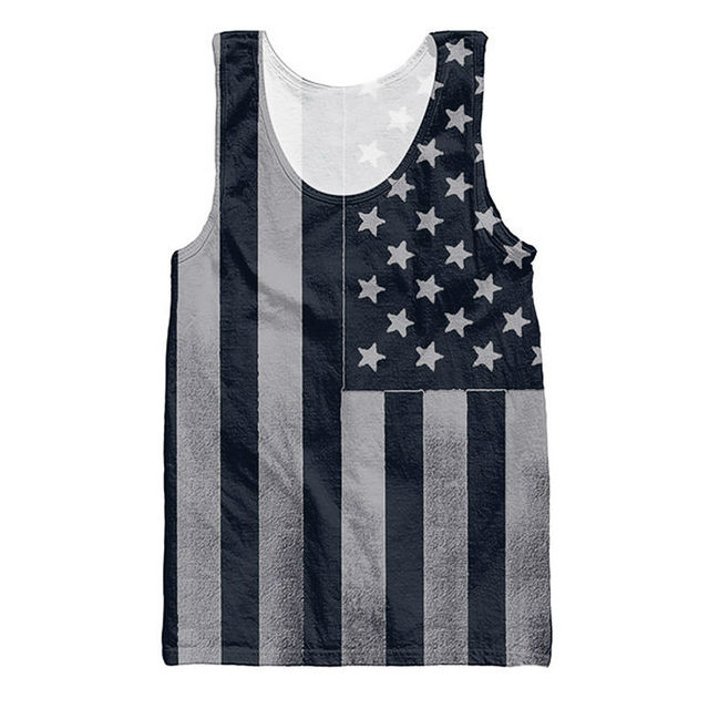 50eaa6045a703 3d Print Male Tank Tops Men s Compression Sleeveless Shirt American Flags  Dark Patriotic Design Bodybuilding Vest For Men Jersey