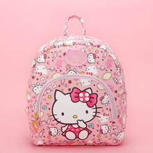 New Cartoon Cute Genuine Hello Kitty Backpack Hellokitty Bag High Quality Pu Pink School Bags Melody Travel For Girls Gift