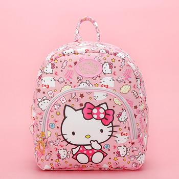 New Cartoon Cute Genuine Hello Kitty Backpack Hellokitty Bag High Quality Pu Pink School Bags Melody Travel Bag For Girls Gift new cartoon cute genuine hello kitty backpack hellokitty bag high quality pu pink school bags melody travel bag for girls gift