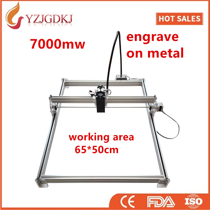 7000mw Mini desktop DIY Laser engraving engraver cutting machine Laser Etcher CNC print image of 50 X 65 cm mark logo on dog tag 5500mw diy desktop mini laser engraver engraving machine laser cutter etcher cnc picture logo printer 30 40cm
