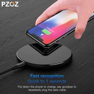 Image 5 - PZOZ Qi Draadloze oplader USB Lader Snel Opladen Telefoon Adapter voor iphone X 8 Plus Xs Samsung S9 S8 note 9 8 xiaomi mi mi x 2s