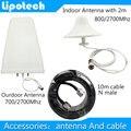 Ceilling Antena de interior y Al Aire Libre Antena 800/2700 Mhz Accesorios para CDMA GSM DCS PCS WCDMA 3G 4G Repetidor de Señal de Refuerzo