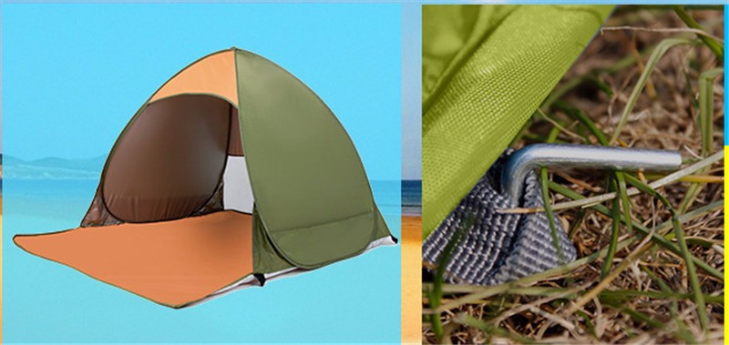 1-2 Persons fishing tent Outdoor camping hiking beach summer tent UV protection fully sun shade pop up tents