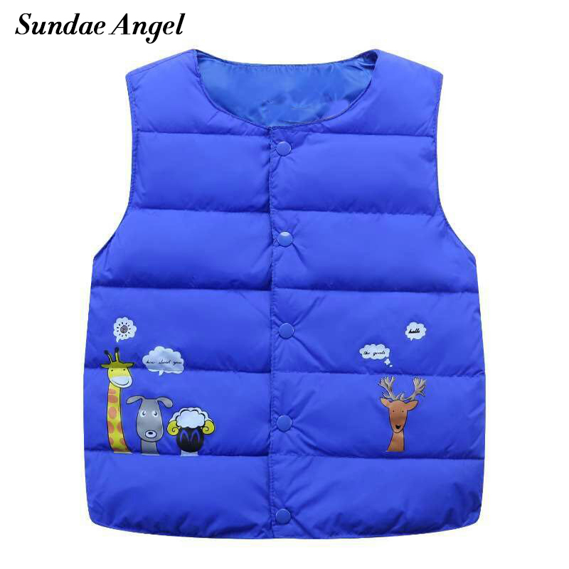 Sundae Angel Girl vest cotton Cartoon For Kids baby Boy Waistcoat Down Jacket Coat Costume Outerwear 2-7 Years Children Clothes