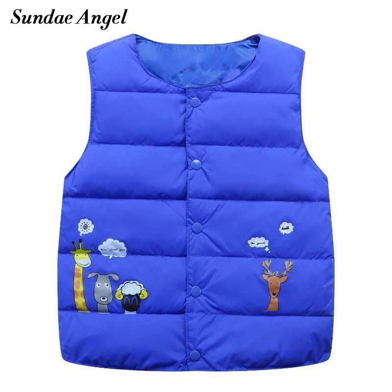 Sundae Angel Girl vest cotton Cartoon For Kids baby Boy Waistcoat Down Jacket Coat Costume Outerwear 2-7 Years Children Clothes