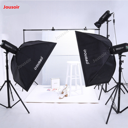 Three Flash set SoftBox lamp holder 400W Photography Light triple flash light kit Studio Lighting equipment suit CD50 T10