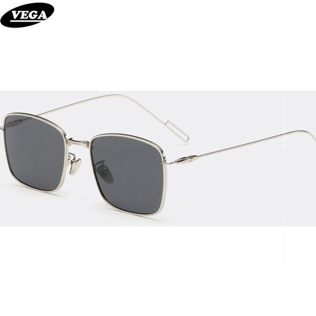 VEGA Retangular Óculos De Sol Polarizados 2017 Novidade Hipster Óculos com Caixa de Óculos De Sol Unissex de Alta Qualidade Extra Fino Pernas 8017