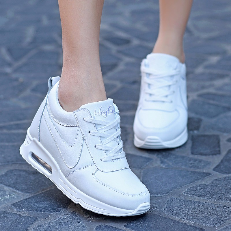 Height Increasing Casual Women Shoes 2016 Fashion Autumn PU Leather High Top Wedges Casual Shoes Lace Up Ladies Shoes YD139 (25)