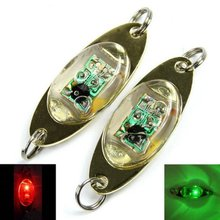 6 cm/2.4 inch LED Deep Drop Underwater Fishing Squid Fish Lure Light Flash Lamp Pesca