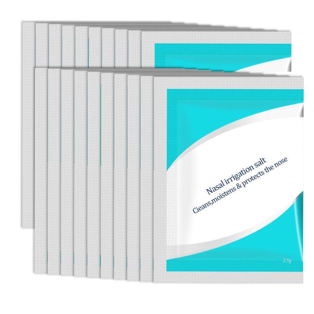 20 Bags Nasal Wash Salt 2.7g/bag For 300ML Nasal Wash Cleaner Neti Pot Nasal Irrigator Wash System Nose Trimmer Medical Healthy