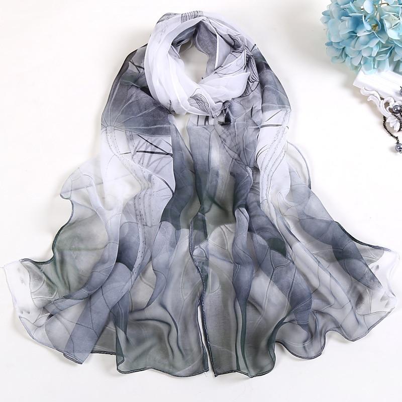 RUNMEIFA 2019 New Fashion Spring/Summer Women Floral Printing Beach Silk Scarf Shawls Female Long Wraps Beach Sunscreen Hijab