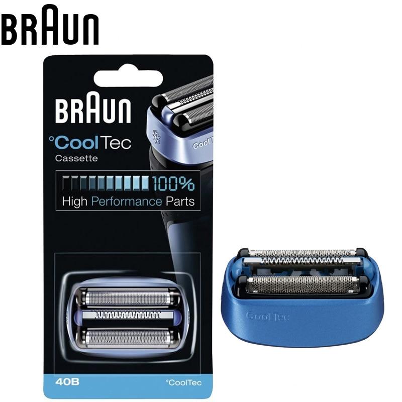 Braun 40B Foil & Cutter Replacement Cartridge CoolTec Cassette Electric shavers Razor Blade Heads Replacements CT5cc CT4s CT2s braun series 3 cooltec ct4s electriv foil shavers wet