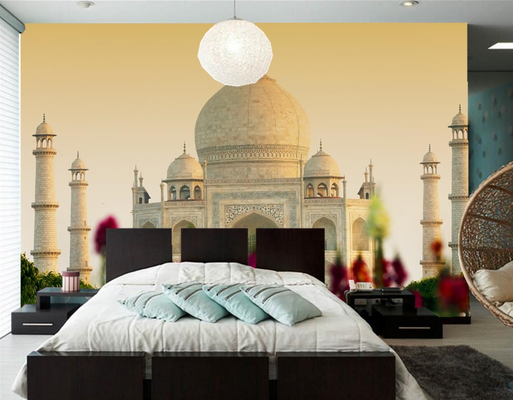Custom 3d Mural Taj Mahal Mosque Agra India Photo Wallpaper,living Room Tv  Sofa Wall Bedroom Restaurant Papel De Parede In Wallpapers From Home  Improvement ...