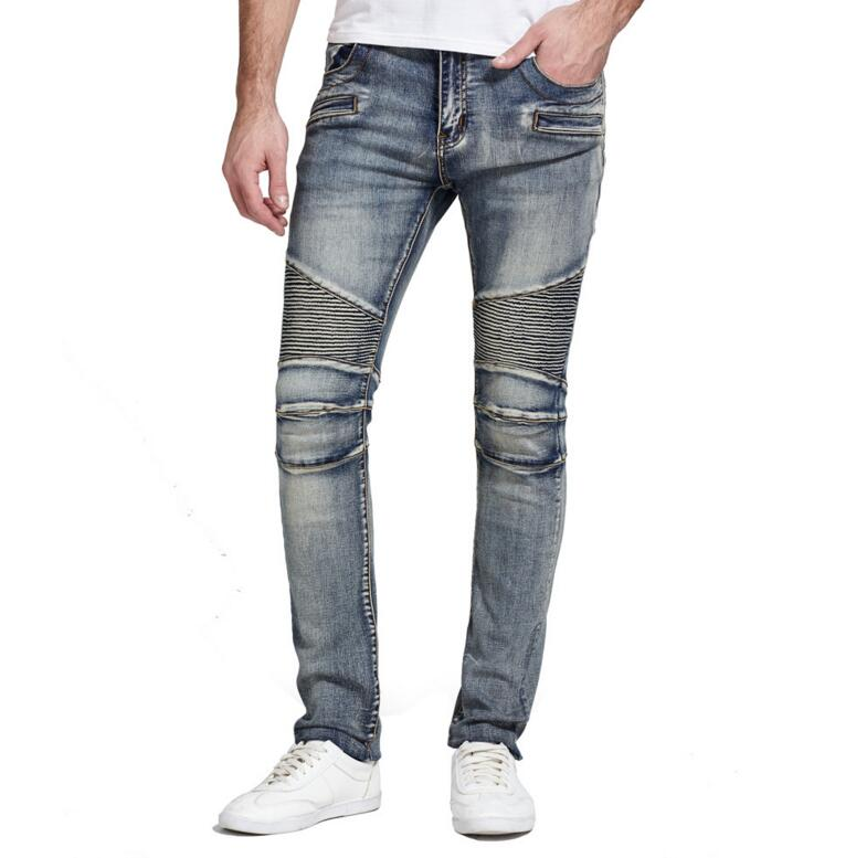 brand straight cotton solid color wild men jeans 2018