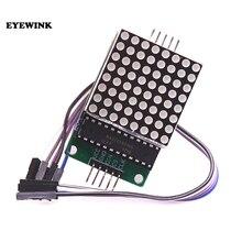 10 шт., модуль точечного матричного дисплея max7218, модуль управления с одним чипом, комплект для творчества