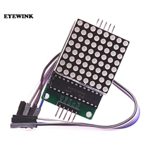 10 sztuk Dot wyświetlacz matrycy moduł MAX7219 single chip moduł sterujący zestaw do samodzielnego montażu