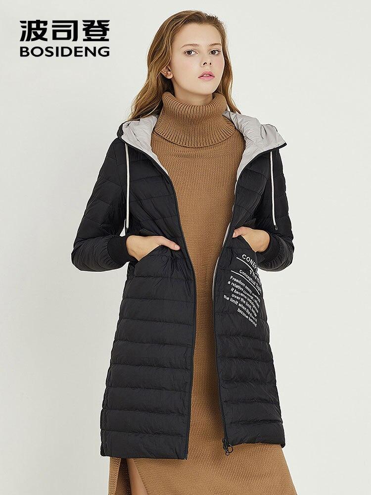 BOSIDENG 2018 NEW winter long   down     coat   for women duck   down   jacket long parka hooded with hat detachable waterproof B70132110
