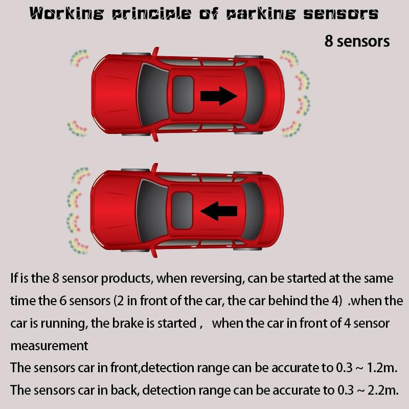 8/capteurs NY5050 voiture LCD Kit de capteur de stationnement affichage pour toutes les voitures Parking voiture détecteur aide au stationnement capteur de stationnement - 5