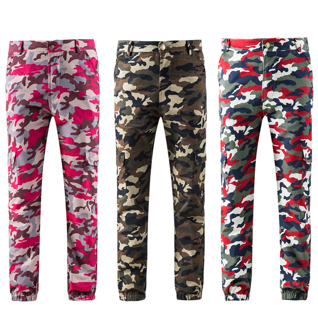 classic style store best quality € 14.45 40% de réduction|QINGSHI femmes Camouflage Cargo pantalon taille  haute Camo militaire joggeurs hiver automne Harem pantalon pantalons de ...