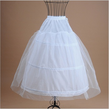 White Petticoats for Bridal Gown Formal Dress 2017 New In Stock Wedding Accessories 3 Hoops Ball Gown Crinoline Underskirt 2018 new hot sell 6 hoops big white petticoat super fluffy crinoline slip underskirt for wedding dress bridal gown in stock