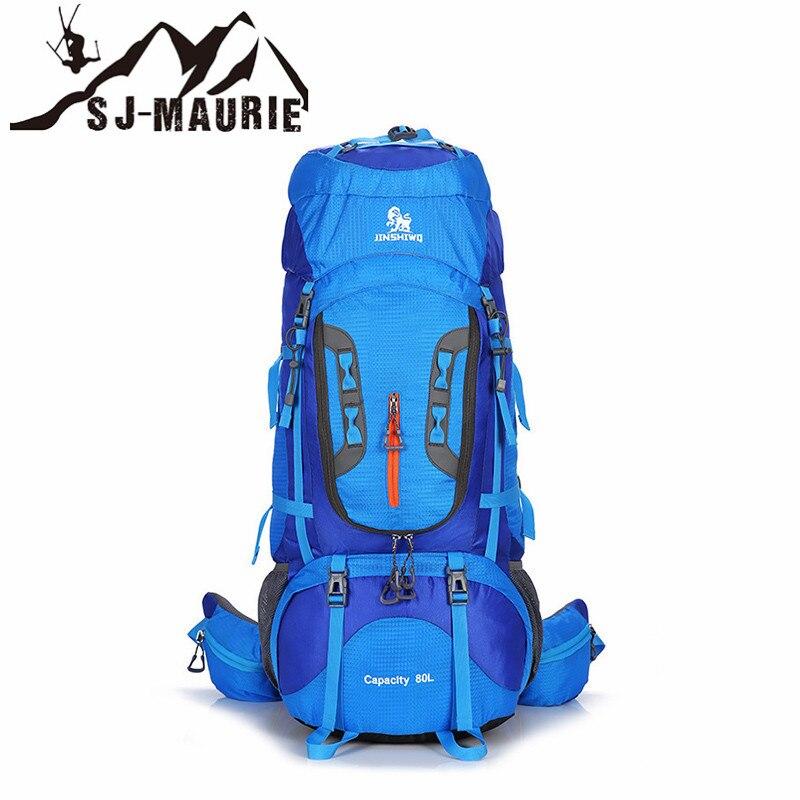 80L sac à dos de Sport en plein air Camping randonnée sacs à dos en Nylon réglable grande capacité Sport voyage escalade sac à dos Molle
