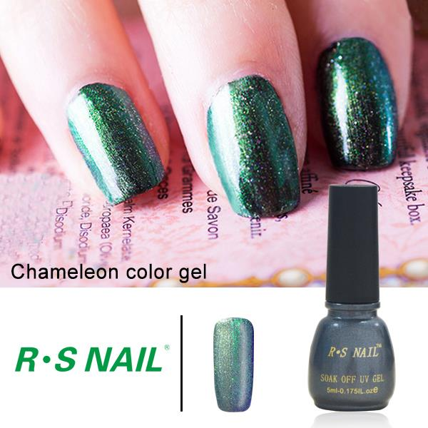 2016 New Arrival RS uv color gel Nail chameleon paint gel nail ...