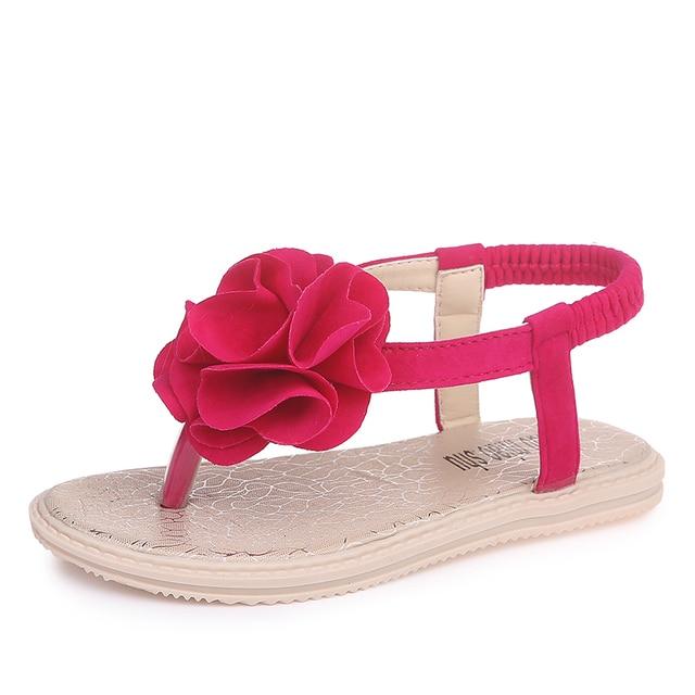 3bb8672ee COZULMA Summer Children Beach Sandals Girls Flip Flops Girls Princess Flower  Slippers Shoes Minimalist Design Kids