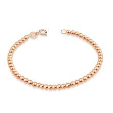 Sinya 18k Au750 браслет с золотыми бусинами для маленьких детей, девушек, женщин длиной от 12 см до 21 см диаметр золотых бусин 4 мм