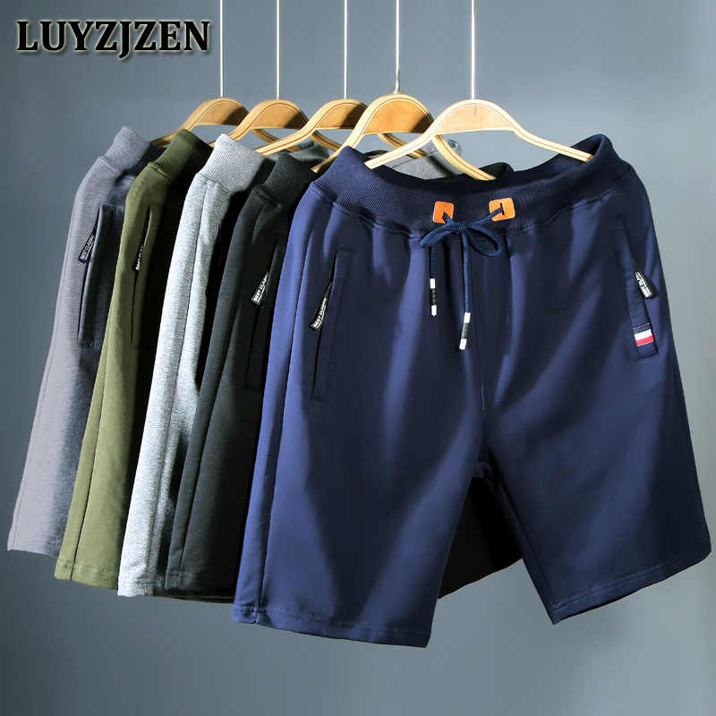 Summer Mens Shorts Cotton New Arrival Casual Solid Beach Shorts men shorts zipper pocket Elastic Waist Bermuda Brand Trousers