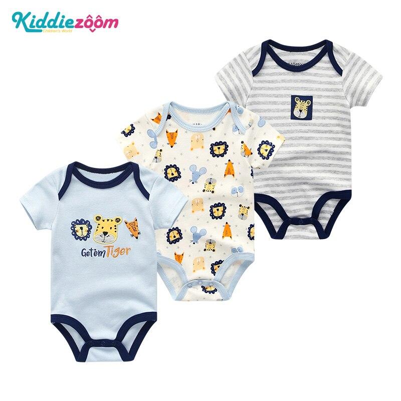 The New Newborn Bodysuit 0-9M Costume Cartoon Printing Cotton Infant Body Short Sleeve Jumpsuit Baby Boy Clothing Roupas De Bebe