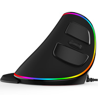 Delux M618 Plus Wired Wireless Mouse Computer Gaming Mouse Ergonomic Vertical Mouse Optical Computer Mice RGB