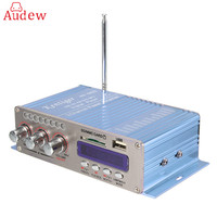 HY502S Bluetooth Car Power Amplifier Stereo Sound Mode HiFi 2 Channel Mini FM Audio MP3 Speaker