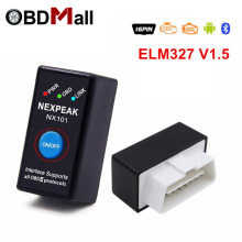 ELM327 V1.5 ODB 2 Autoscanner EML327 V1.5 OBD2 Bluetooth Adapter Mini ELM-327 ODB 2 Read Fault Code Car Diagnostic Scanner tool