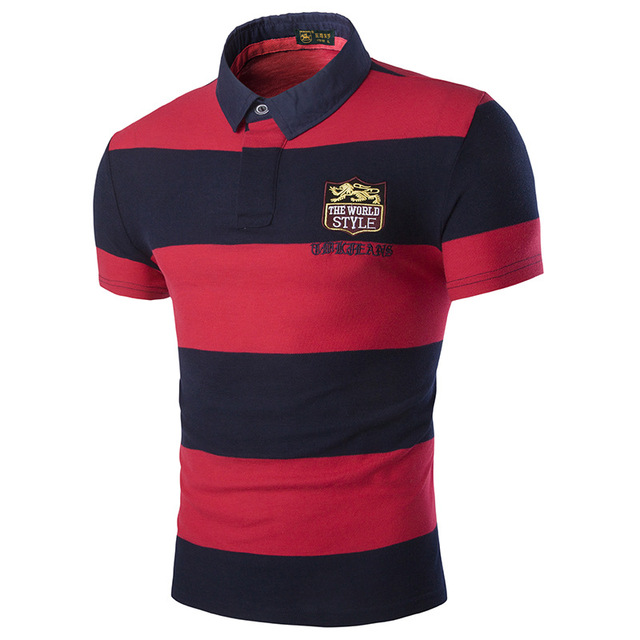 fashion man short sleeve polo brand 2016 summer embroidery polo men slim fit size 3xl