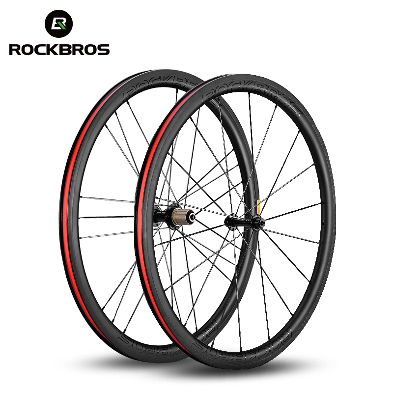 цена ROCKBROS Ultra-light 700c Carbon Road Bicycle Wheel T700 Powerway R13 Hub 38mm 50mm Width 25mm Bike Carbon Wheelset UD 12K Matte