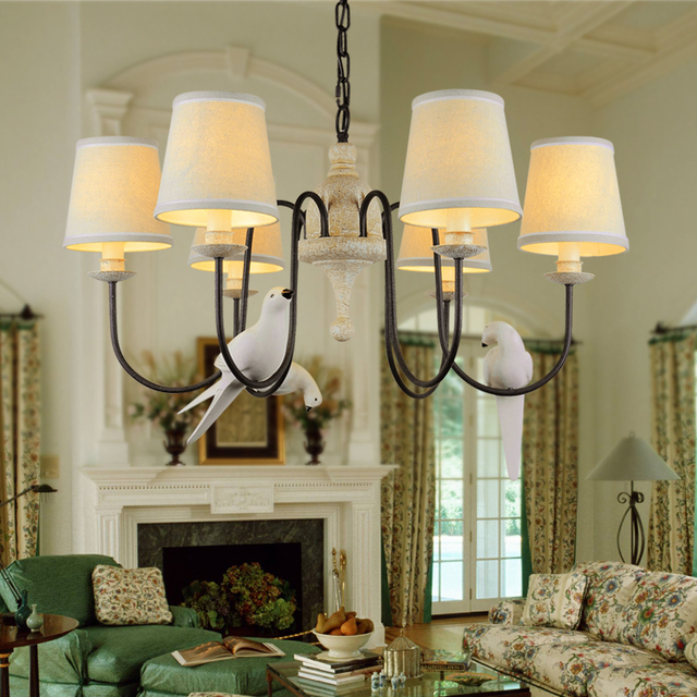 Aliexpress.com : Buy Cottage Bird Chandelier Living Room ...