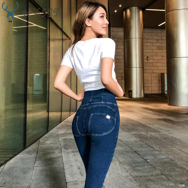 Sexy Frauen Casual Jeans Skinny Aufzug Butt Leggings Bodycon Hohe Taille Denim Hosen Push-Up Hüfte Bleistift Lift Jeans Frauen high Street