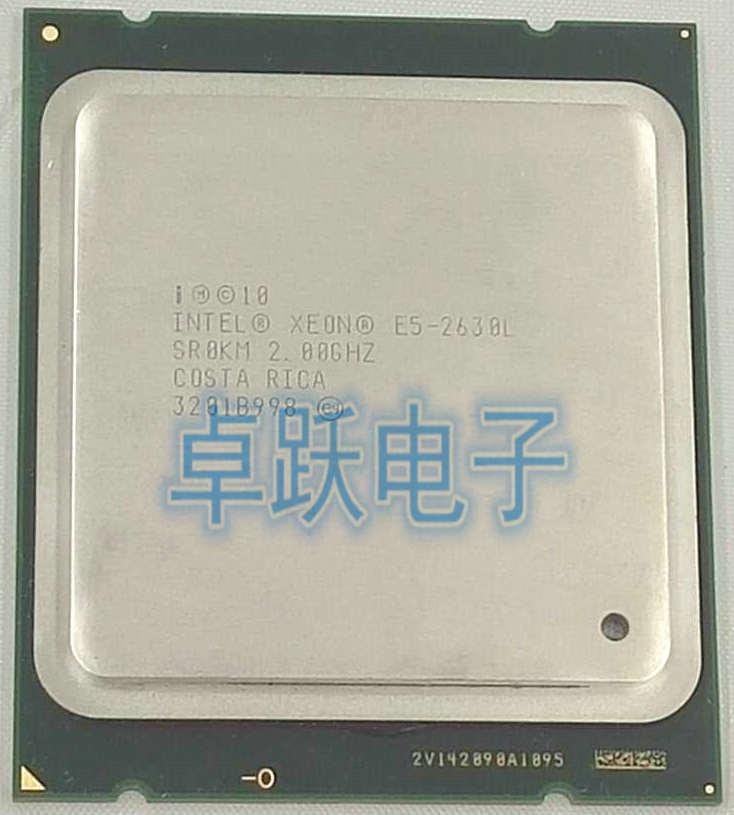 Intel Xeon E5-2630L E5 2630L 2.0GHz LGA2011 Socket 6-Core Intel Server Processor E5 2630L CPU Can Wrok