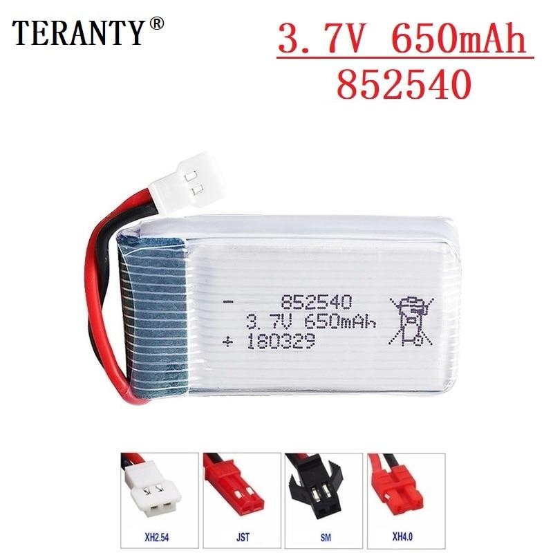 40c 3.7V 650mAh Lipo Battery For Syma X5 X5C X5C-1 X5SC X5SW X6SW H9D H5C L15FW 650mah 852540 3.7V RC Drone Battery Parts 1pcs
