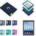 LD 1 Шт. Силиконовые Задняя Крышка Жесткий ПК Hybrid Case Для Apple ipad 2/3/4 Противоударный Обязанность Чехлы Для iPad2 ipad3 ipad4
