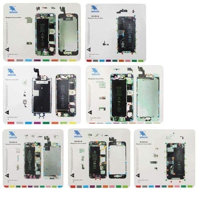 7 em 1 para iphone 6 s/6 plus/6/5S/5/4S/4 Parafusos Tapete Magnético