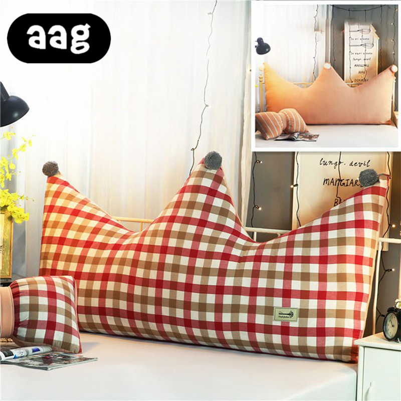 AAG couronne forme coussin oreiller canapé dos soutien lombaire coussin Style princesse enfants chambre lit canapé décoratif oreiller - 5