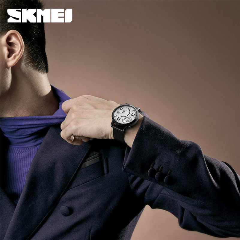 Biznes Wrist Watch Mężczyźni Zegarki SKMEI Top Luksusowa Marka - Męskie zegarki - Zdjęcie 5