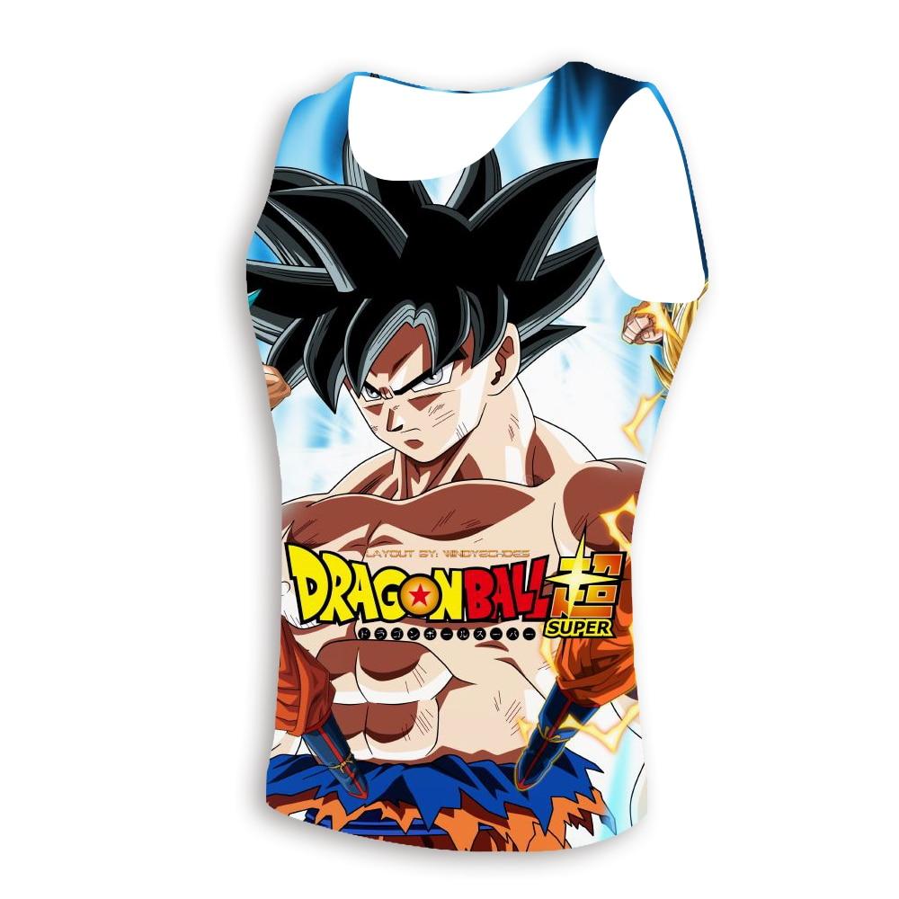 2019 New Design Sleeveless Vest Classic Anime Dragon Ball Z Super Saiyan 3D Print   Tank     Tops   Summer Clothes Dragonball Tees