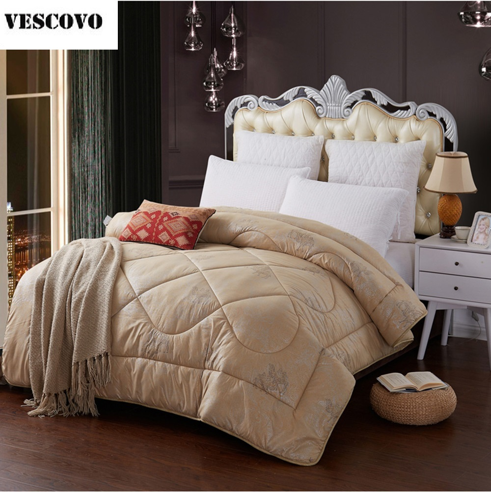 Wool Quilt Winter Camel Hair Comforter Thicken Warm School Students Home Hotel Duvet