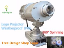 Logo Projector Advertising IP65 Waterproof Led Laser Spot Shop Outdoor Decoration Big Mall Market Bar KTV Restaurant Spinning(China)