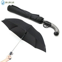 Creative Personality Umbrella Pistol Modeling Two Fold Automatic Umbrella Gift
