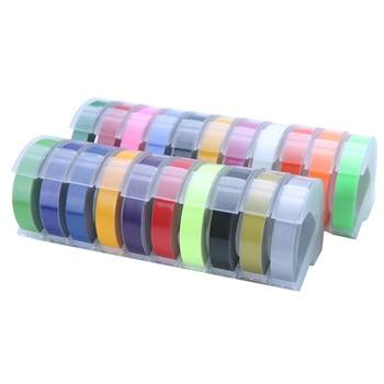 CIDY 2pcs 9MM 6MM 12MM Dymo 3D Plastic Embossing Tape for Embossing Label Maker PVC LABEL DYMO M1011 1610 1595 1540 Motex E101 Printer Ribbons