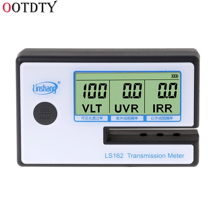 OOTDTY LS162 Window Tint Meter Solar Film Transmission Meter,Filmed Glass <font><b>Tester</b></font> ,VLT transmittance meter ,UV <font><b>IR</b></font> rejection meter image