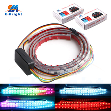 YM E-Bright 2pcs Waterproof IP68 RGB 120cm Canbus Dynamic Streamer Luggage Compartment Car Tail Lamp Strip 12V Free Shipping